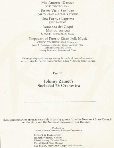 Sociedad 76 - Lincoln Center Performance